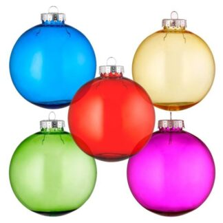 Tinted Glass Style Baubles
