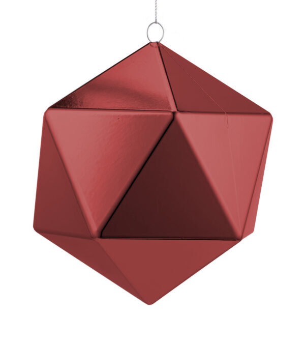 Burgundy Geometric Baubles Shiny