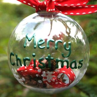 merry Christmas clear bauble