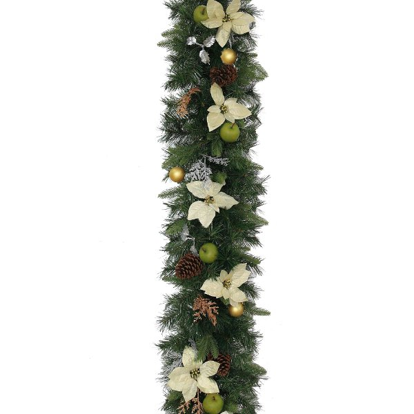 Luxury Christmas Garland In Silver and Bronze