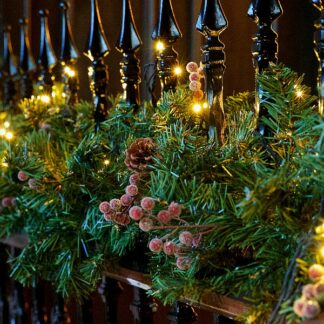 Pine Cone and Frosted Berry Christmas Garland