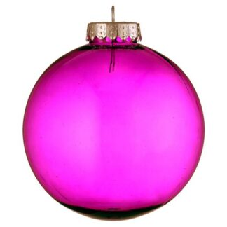 pink tinted glass look bauble