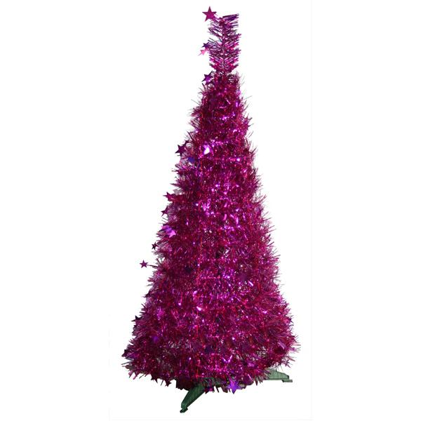 Tinsel Hoop Christmas Trees