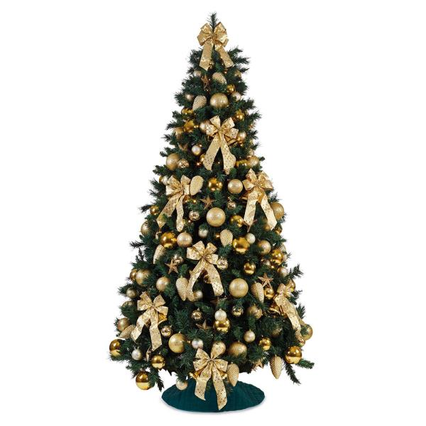 traditional gold hire artificial christmas tree