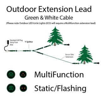 Outdoor Extension Leads - Display Pro Lights
