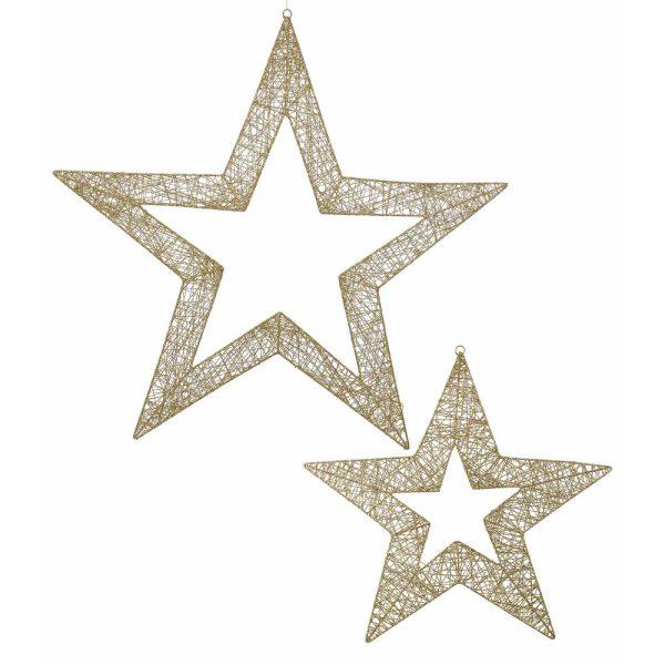 Glittered Wire Stars