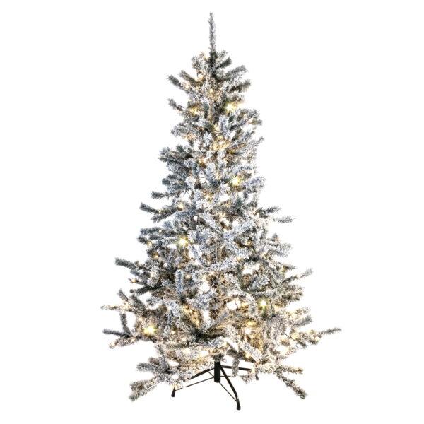 Pre lit Flocked Norway Spruce Christmas Tree