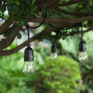 Festoon Lights with Drop Style Filament Bulbs – Mains Voltage