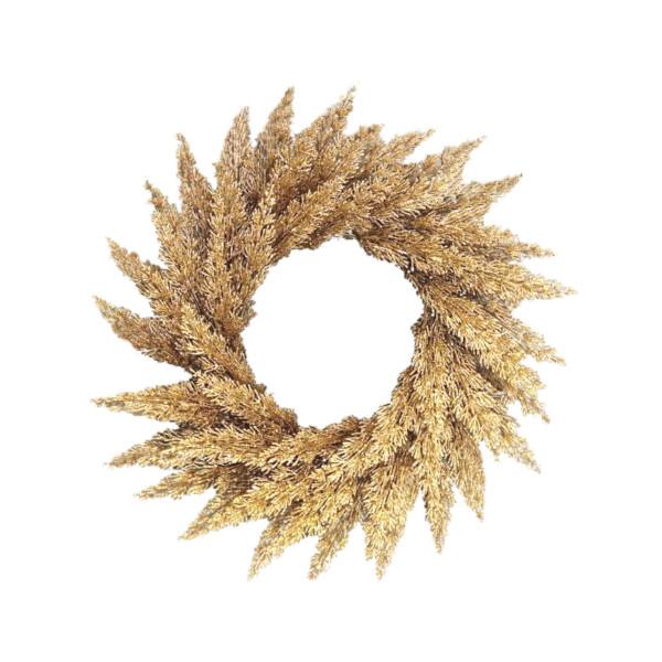 Gold cedar wreath - 60cm
