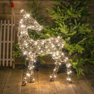 Illuminate Wicker Deer