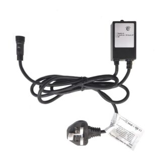 Power Cord with Timer Function - 2 amp - Black Cable